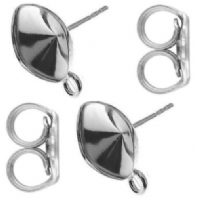 A Pair Sterling Silver Glue On Ear Studs